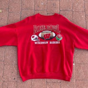 Wisconsin Badgers Rose Bowl Crewneck